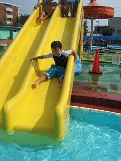 流水滑り台
