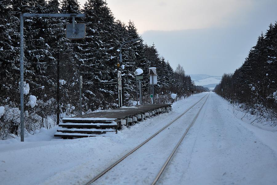 LM徒然草 ~駅と列車と情景と~ 【2012.01 北海道旅行記】酷寒の北剣淵駅