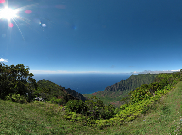 Todays Kalalau Valley Lookout