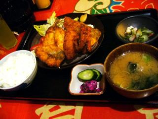 大次郎丸 地魚海鮮フライ定食(地魚フライ4点盛り)