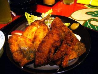 地魚海鮮フライ定食(地魚フライ4点盛り)フライ2