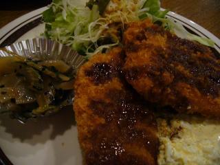 茶和3号館 ランチ 白身魚のフライ