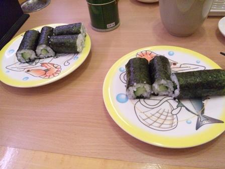 かっぱ寿司でカッパ巻き