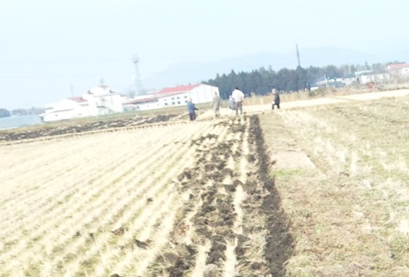 田んぼ拡張工事