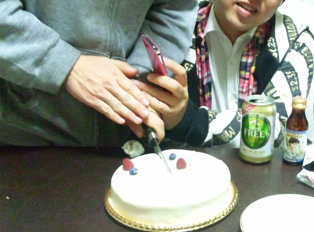 ケーキ 入刀ぉ!