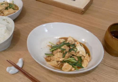 暑い日にぴったり、辛口麻婆豆腐。