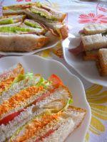 7月2日全粒粉のサンドイッチ