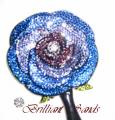 ミラーデコ ブルー系バラ2