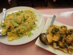 横浜中華街 茘香尊本店 ~ライシャンソン~ 炒飯と油淋魚