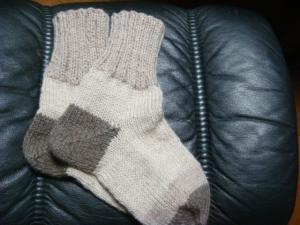 1毛糸の靴下