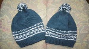1.編み込み模様の帽子②