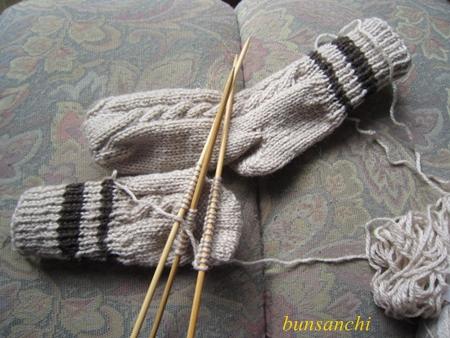 毛糸の靴下①