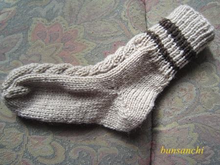 毛糸の靴下②