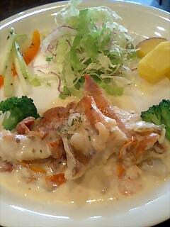 赤魚のシーフードクリームソース