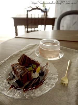4th cafe◇チョコレートケーキ&Rose Princess