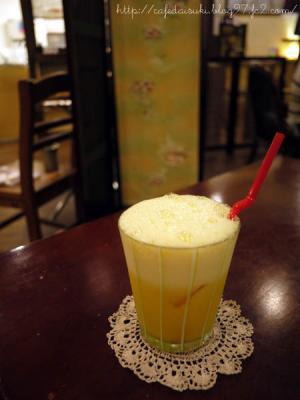隠れ家カフェ食堂 茶ノ逢◇日替わり生ジュース(オレンジ&パイン)