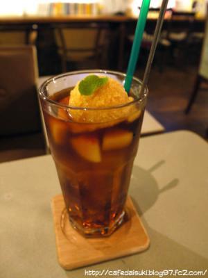 cafe couwa◇黄金桃のティーフロート
