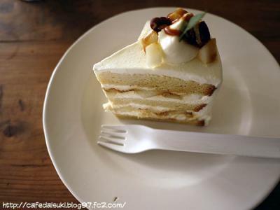 ひだまり商店◇洋なしとキャラメルのケーキ
