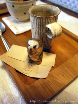 cafe zakka hinatabocco◇伝票(リスが押さえてます)