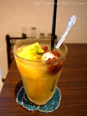 日和cafe◇ライチとオレンジのソーダ