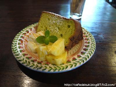 CAFE 楓◇日替わりシフォンケーキ(ほうれん草)
