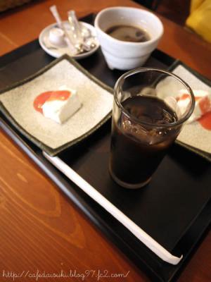 日光くじら食堂◇アイスコーヒー&ランチデザート
