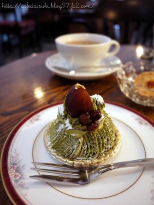 Lamp Cafe◇抹茶のモンブラン
