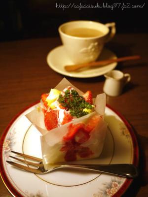 Lamp Cafe◇ストロベリーチーズケーキ&ロイヤルミルクティー