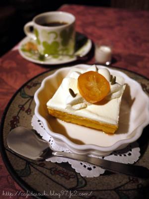 サザコーヒー 本店◇かぼちゃのプリン&サザ・スペシャル・ブレンド