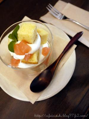 yuki cafe◇桃のトライフル