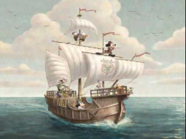 ホテル ミラコスタ リニューアル カピターノ・ミッキー・スーペリアルーム(壁絵のガリオン船)