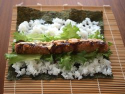 とんかつ巻き寿司1