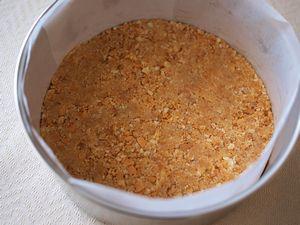 水切りヨーグルトのチーズケーキ1