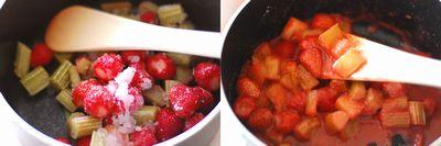 イチゴとルバーブのタルト