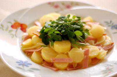 ジャガイモとハムのサラダ
