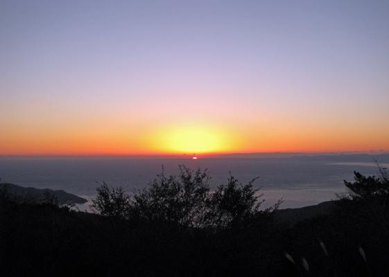 海に沈む夕日 西伊豆