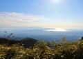 杓子峠から駿河湾が見えます