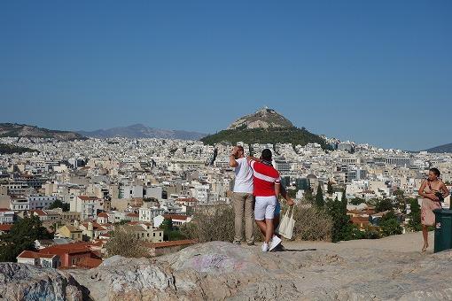 アクロポリスからアテネ市内を望む