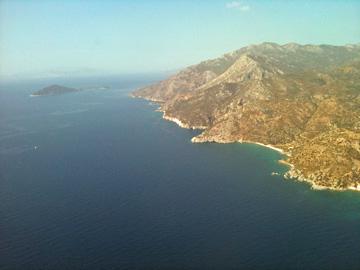 空からサモス島