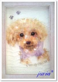 クリスタルコラージュ*ペットの肖像画