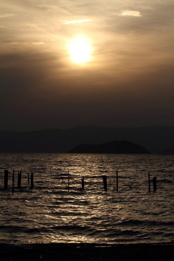 びわ湖の夕景
