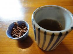 蕎麦茶と蕎麦揚げ@古楽さん