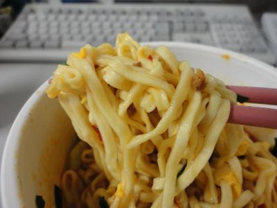 ニラ担々麺 麺@ある日の晩ご飯