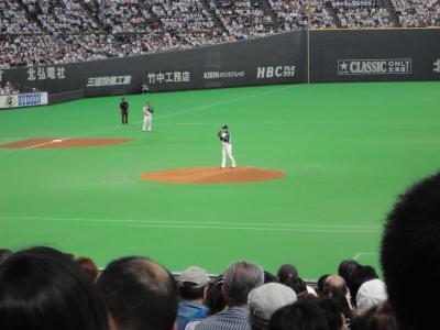 斉藤投手@札幌ドーム