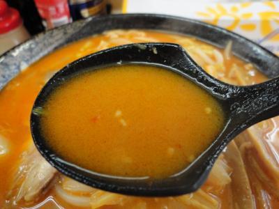 からみそラーメン スープ@新花さん