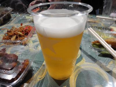 まずはビール!@ノルベサ屋上ビアガーデン