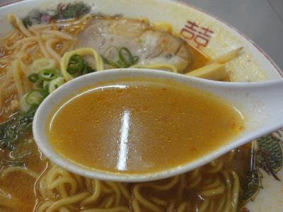 ピリ辛ラーメン スープ@まるたかさん