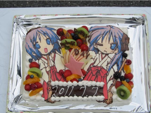 柊姉妹バースデーケーキ