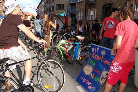 fixa cykel corner