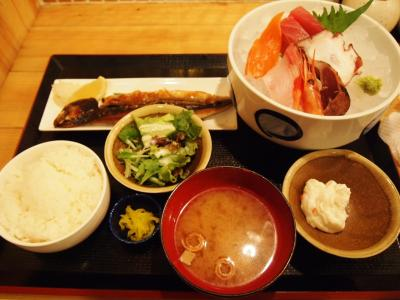 お刺身定食(かば)